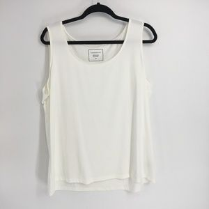 Charter Club White Scoop Neck Sleeveless Tank